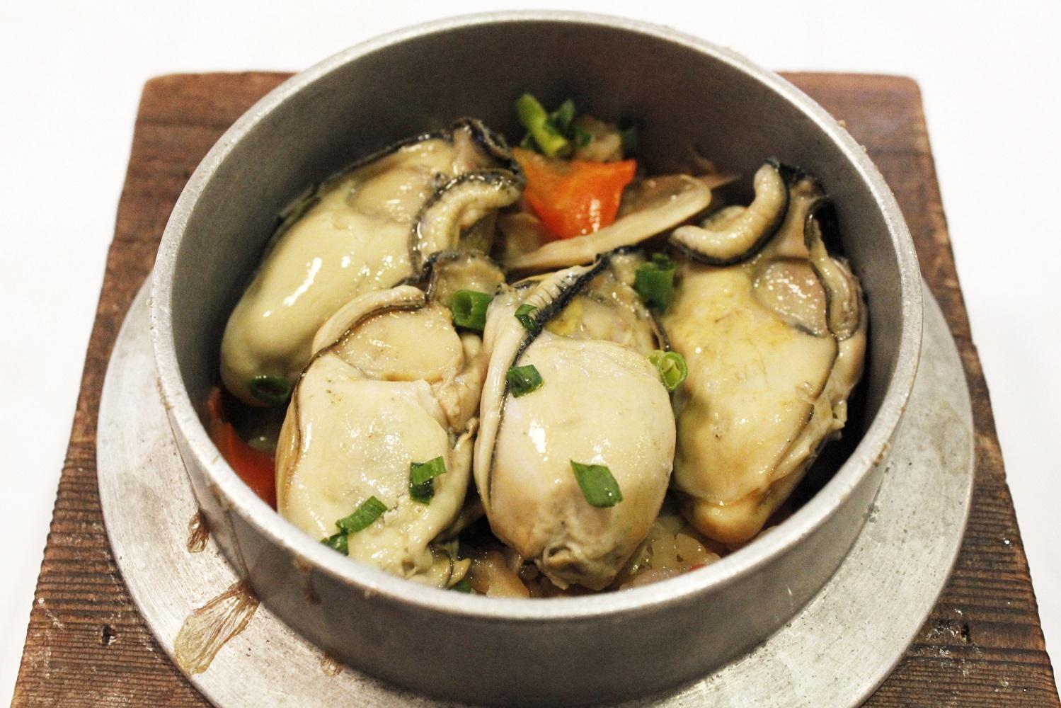 牡蠣の釜めしランチ2017.01